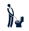 wc funny symbol toilet restroom icon vector image
