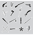 weapons and guns stickers eps10 vector image vector image