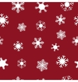 White snowflakes for Christmas vector image