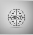 world and global news concept icon vector image