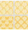 Yellow seamless ethnic pattern vector image vector image