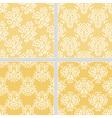 Yellow seamless ethnic pattern vector image
