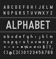 Alphabet Font Design Bold vector image