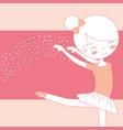 beautiful ballerina dancing ballet gracefully vector image