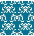 Blue decorative seamless pattern vector image vector image