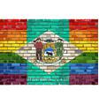 brick wall delaware and gay flags vector image vector image