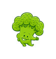 broccoli character thumbs up gesture vector image vector image