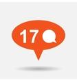 bubble comment icon vector image