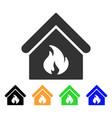 building fire icon vector image vector image
