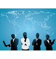 Business people world map vector image vector image