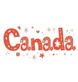 Canada text decorative lettering type design vector image vector image