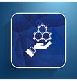 checkmark on hand web icon design vector image vector image