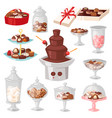 chocolate candy sweet confection dessert vector image