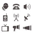 Communication business information media web icons vector image vector image