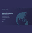 concept based landing page design with background vector image