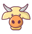 cow head icon cartoon style vector image
