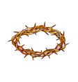 crown of thorns antique tool for pain color vector image