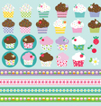 cupcake clipart vector image vector image