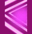 cyberpunk background pink neon triangles 80s vector image