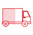 delivery truck isolated icon vector image vector image