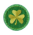 Denim patch with shamrock vector image