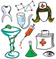drawn colored nurse vector image vector image