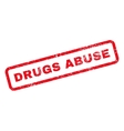 Drugs Abuse Text Rubber Stamp vector image vector image