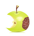 Eated rotten apple vector image