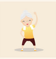 elderly people exercising concept vector image vector image
