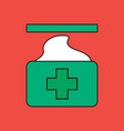 flat icon design collection medical napkins vector image vector image