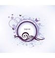 Floral violet background vector image vector image