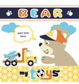 funny animals with its toys bear playing time vector image vector image