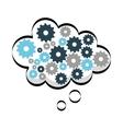 gears speech bubble icon vector image