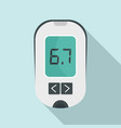 glucometer icon flat style vector image vector image