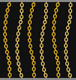 golden chains fashion seamless pattern on black vector image vector image