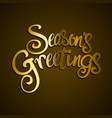 golden seasons greetings text vector image vector image