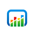 graph arrow color finance logo vector image