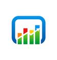 graph arrow color finance logo vector image vector image