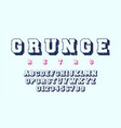 grunge alphabet template letters and numbers of vector image