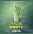 Halloween banner zombie invitation concept