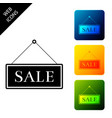 hanging sign with text sale icon isolated set vector image