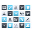 healthcare medicine and hospital icons vector image vector image