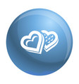 heart candy box icon simple style vector image vector image