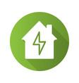 home electrification flat design long shadow vector image vector image