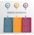 infographics design template color buttons and 3 vector image vector image