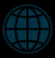 internet collage icon of halftone spheres vector image vector image