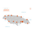 jamaica map with administrative divisions vector image