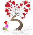 kiss tree vector image