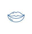 lips line icon concept lips flat symbol vector image