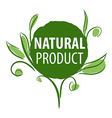 logo for organic products in the form of plants vector image vector image